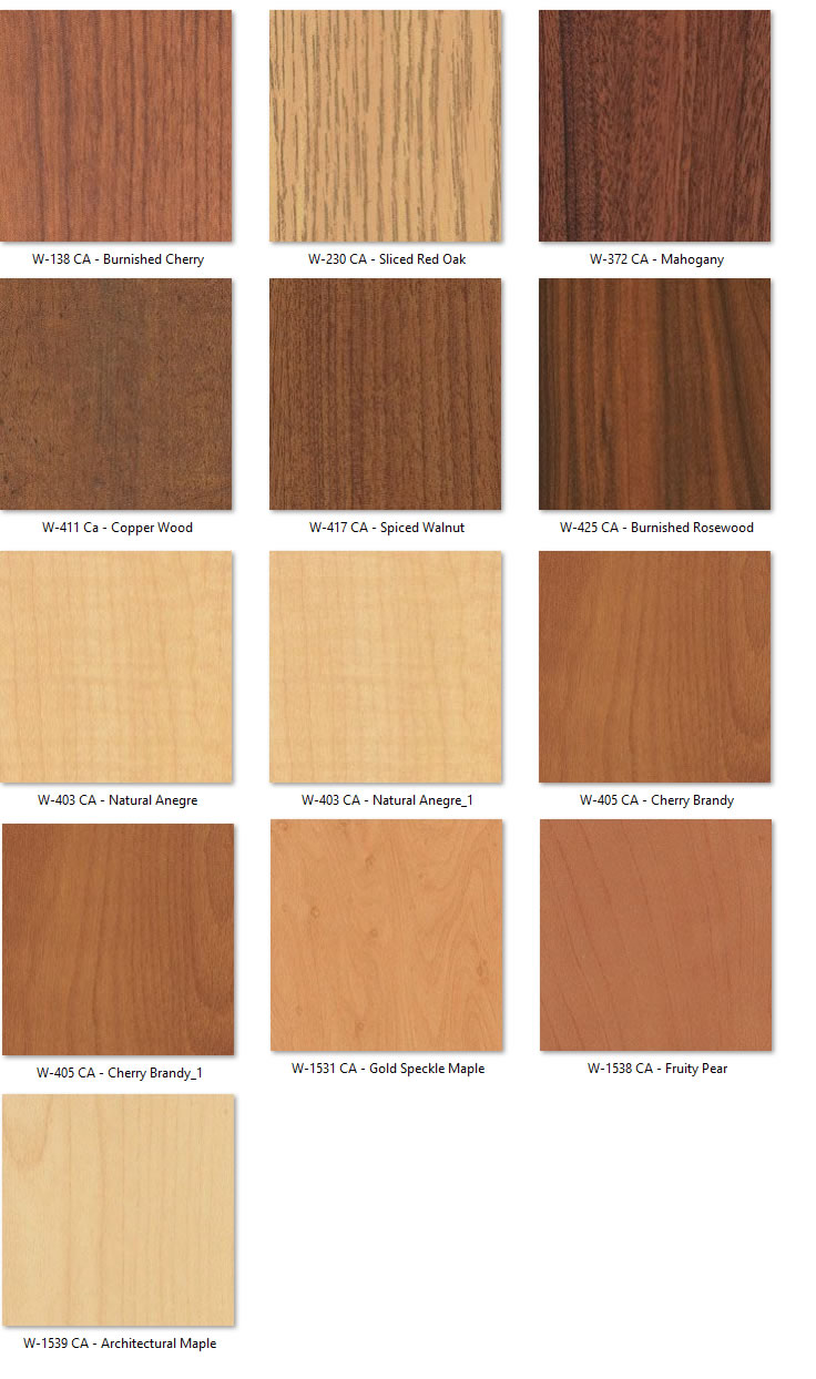 Resistop Laboratory Casework Wood Colors