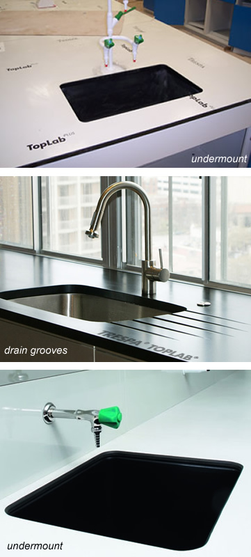 Epoxy Sinks Undermount Under Counter Mount Trespa Epoxy Sink